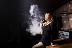 woman smoking vaping